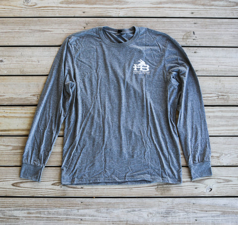 Front ofHB License Plate Long Sleeve T-Shirt Grey