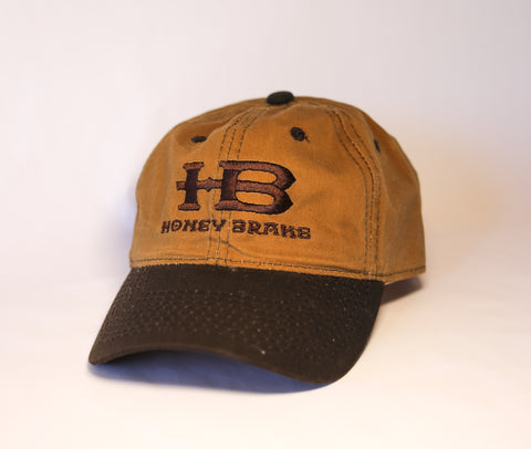 HB Brown (2 Tone) Waxed Canvas Unstructured Hat