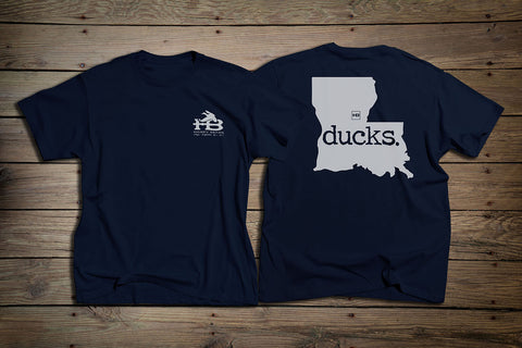 HB LA Ducks Short Sleeve T-Shirt Navy