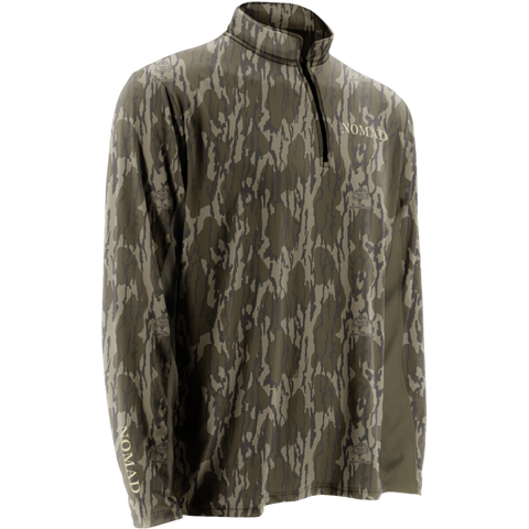 Nomad 1/4 Zip Long Sleeve Cooling Tee-Bottomland
