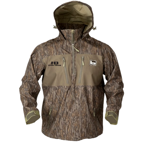 Banded 1/4 Zip Waterproof Hooded Pullover-Bottomland w/ HB Logo