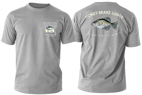 HB Crappie/Larto Lake Adult T-shirt-