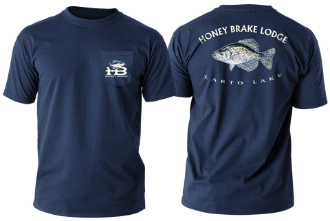 HB Crappie/Larto Lake Adult T-shirt-Navy