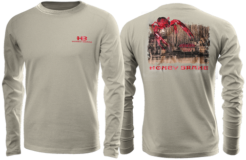 HB Cajun Hot Tub Adult Tan Long Sleeve T-Shirt