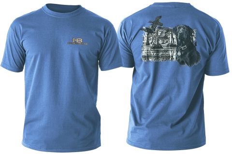 HB Black Lab/Swamp Adult Blue Short Sleeve T-Shirt