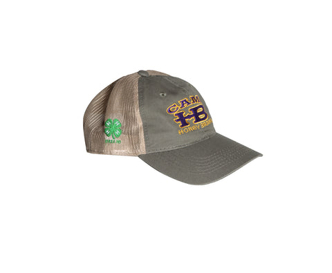 Camp HB 4H Olive Green Trucker Hat
