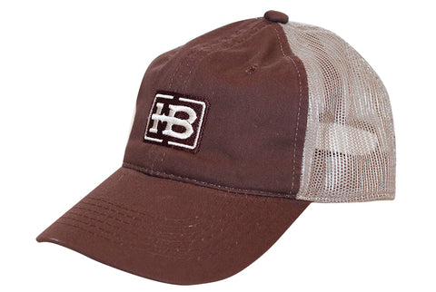 HB Brown/Tan Unstructured Hat