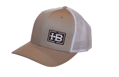 HB Khaki/White Trucker Hat