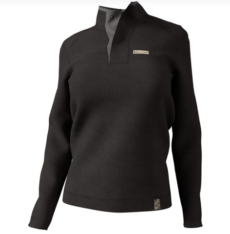 Banded Ladies Nubby Fleece Henley