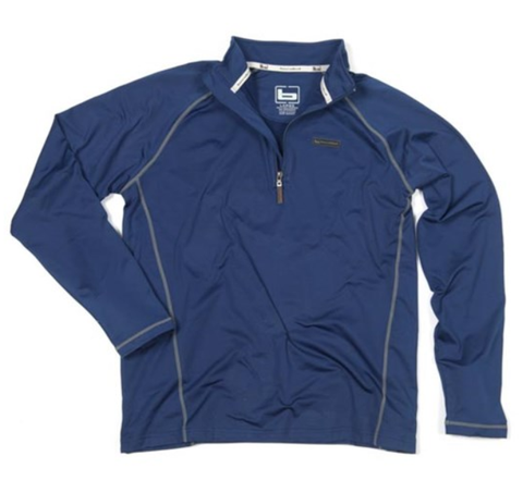 Banded Polar Fleece 1/4 Zip Pullover-Blue