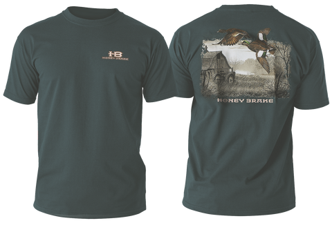 HB Duck on Farm Adult Green Short Sleeve T-Shirt