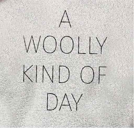 A Woolly Kind of Day Woolly