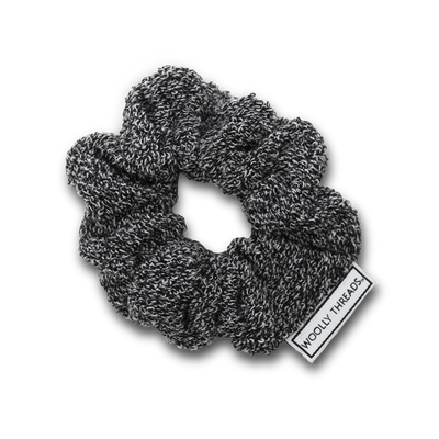 Heather Black Recycled Scrunchie Pack