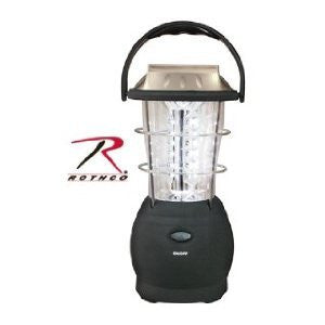 Black 36 Bulb LED Outdoor Solar Powered Handcrank Camping Lantern