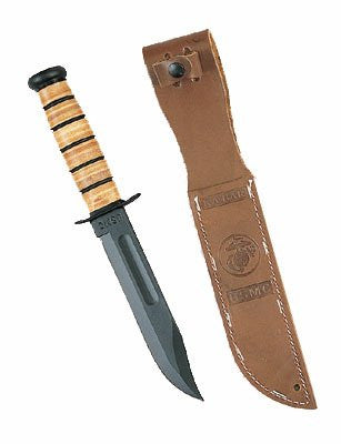 KA-BAR Full Size US Marine Corp Fighting Knife, Serrated