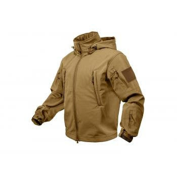Coyote Brown Special Ops Tactical Soft Shell Jacket (Small)