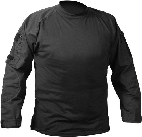 Rothco Long Sleeve Combat Shirt - Black - Large