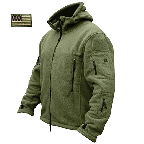 ReFire Gear Men's Warm Military Tactical Sport Fleece Hoodie Jacket