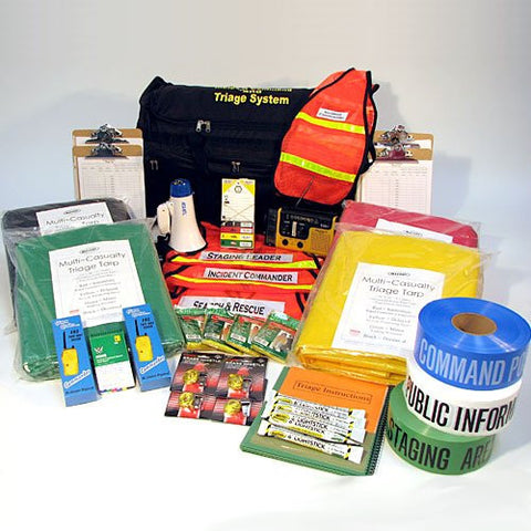 C.E.R.T. Incident Command & Triage Kit on Wheels (CERT)