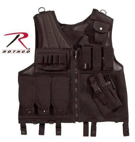 Black Quick Draw Multi-Pocket Gun Military Tactical Vest