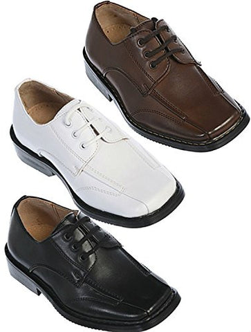 Boys Leather Oxford Dress Shoes for Toddler and Boys-5 Runs Large