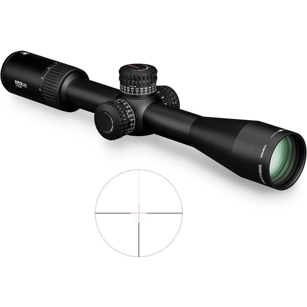 Vortex Optics Viper PST Gen II 3-15x44 Second Focal Plane Riflescope - EBR-4 Reticle (MOA)