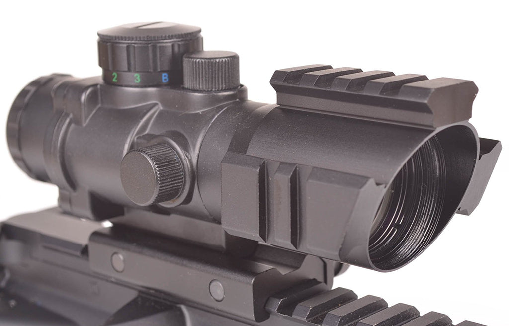 Ozark Armament 4x Magnified Optic with Illuminated BDC Reticle - Rifle Scope