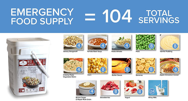 Wise Company Emergency Food Variety 104 Serving Pack