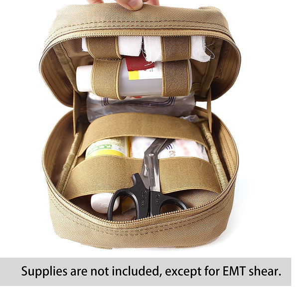 Medical Pouch - 1000D Tactical MOLLE IFAK EMT Utility bag with First Aid Patch And Shear