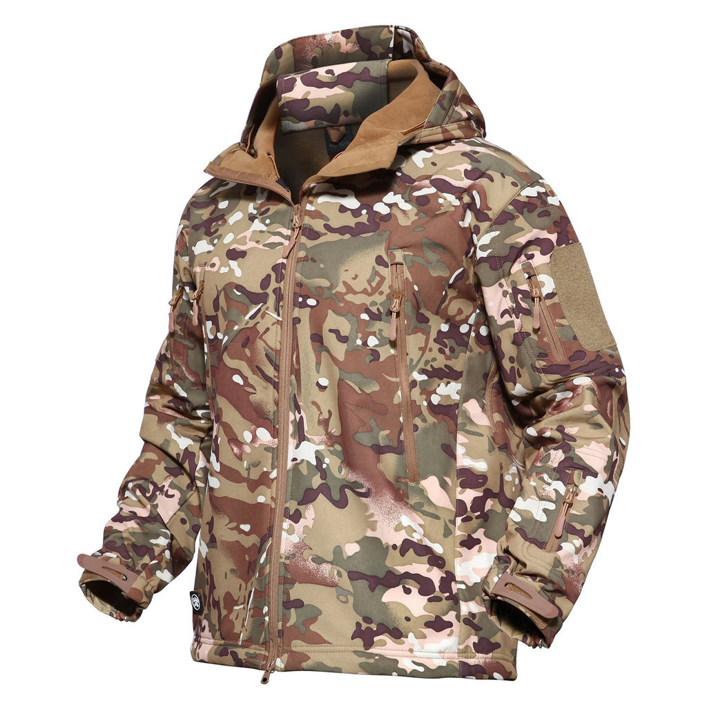 4ae04f6f9d15d MAGCOMSEN Men's Tactical Army Outdoor Coat Camouflage Softshell Jacket  Hunting Jacket ...