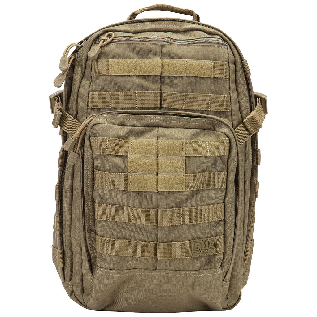 5.11 RUSH12 Tactical Backpack Small with 16 Compartments, MOLLE, SlickStick, Hydration Pocket, Comms Ready for Active Duty Military, Hunting, Recreation or Bug Out Bag – Style# 56892