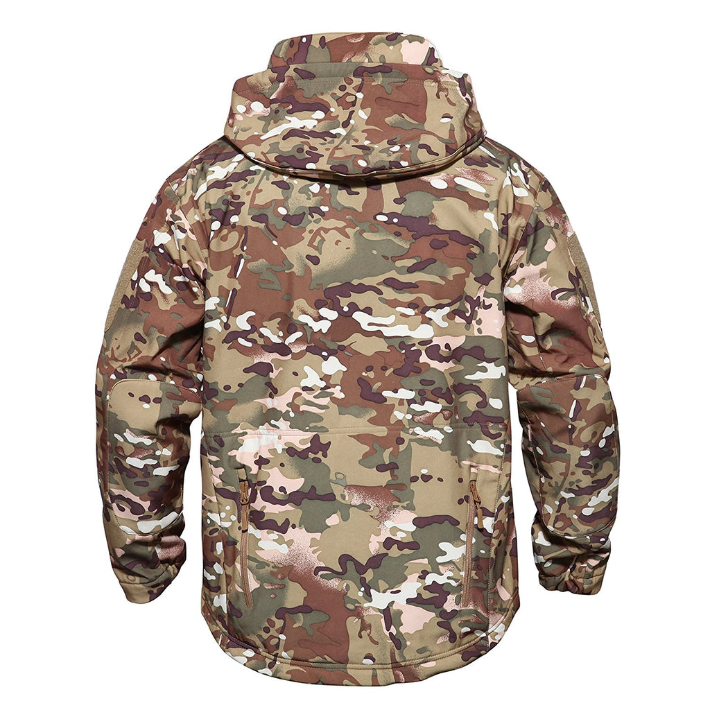 50604f376ec79 ... MAGCOMSEN Men's Tactical Army Outdoor Coat Camouflage Softshell Jacket  Hunting Jacket ...
