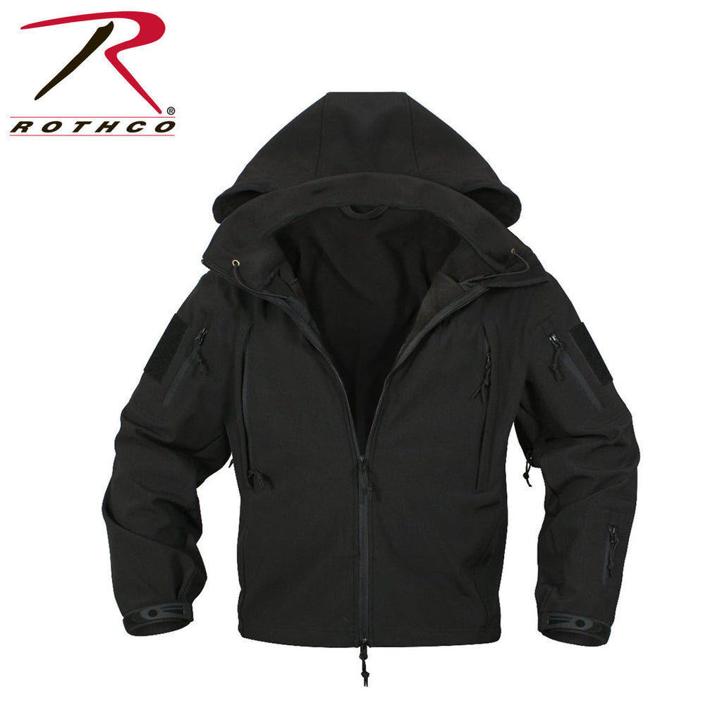 Rothco Black Special Ops Tactical Soft Shell Jacket