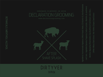 Dirtyver - Alcohol Aftershave Splash - 3.1 fl oz - Autumn Seasonal