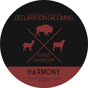 Harmony Shaving Soap - Icarus Base - 4oz - Autumn Seasonal