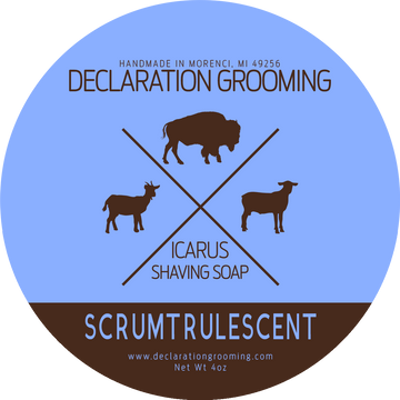 Scrumtrulescent Shaving Soap - Icarus Base - 4oz - Winter Seasonal