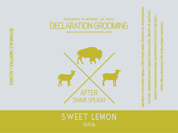 Sweet Lemon - Alcohol Aftershave Splash - 3.1 fl oz