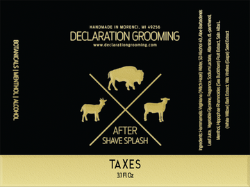 Taxes - Alcohol Aftershave Splash