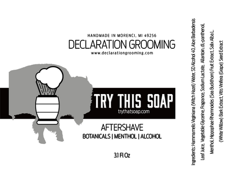 Try This Soap - Alcohol Aftershave Splash - 3.1 fl oz