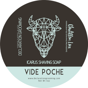 Vide Poche Shaving Soap - Icarus Base - 4oz - Limited Edition