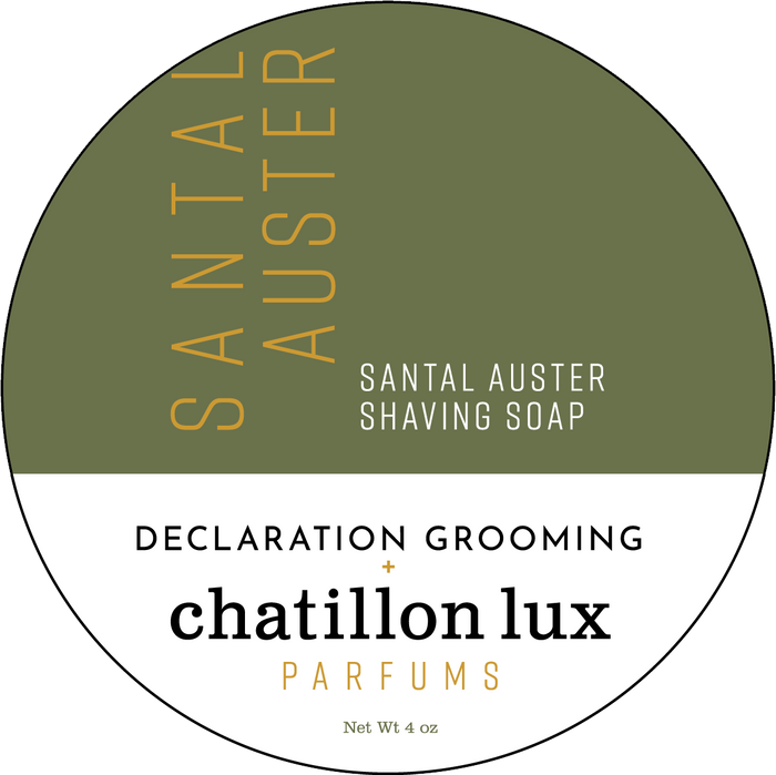 Declaration Grooming/Chatillon Lux Parfums Santal Auster Shaving Soap - Project Icarus Base - 4oz