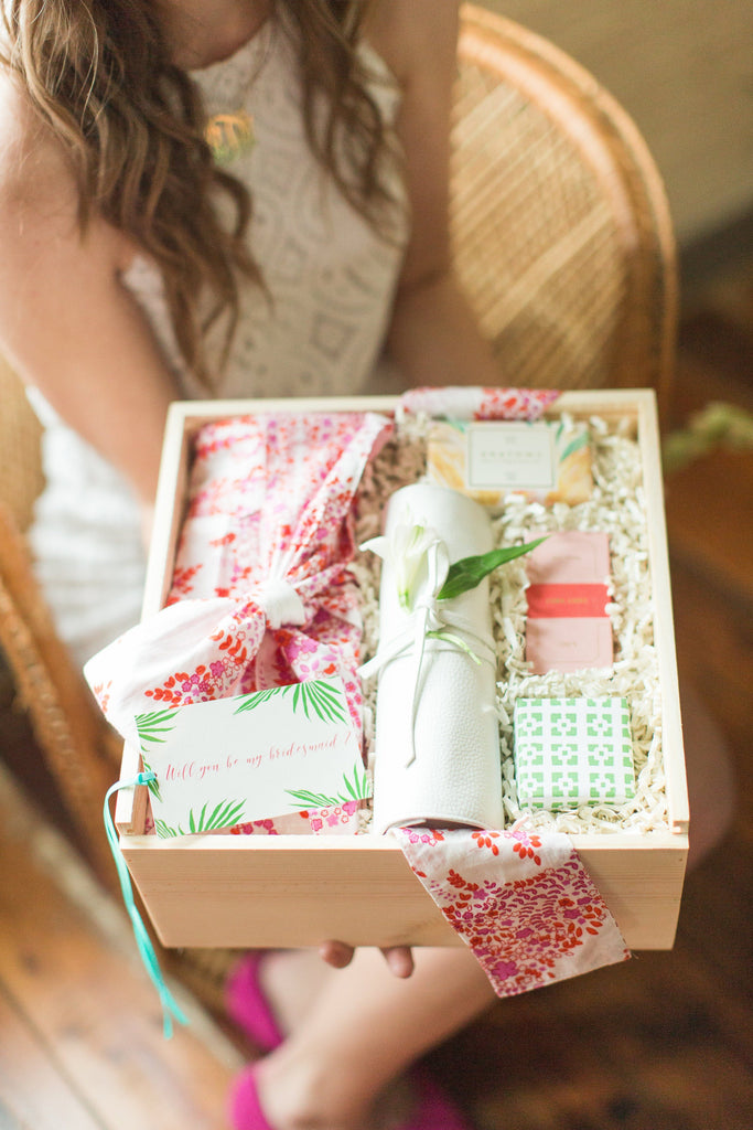 Tropical Destination Bridesmaid Proposal Box