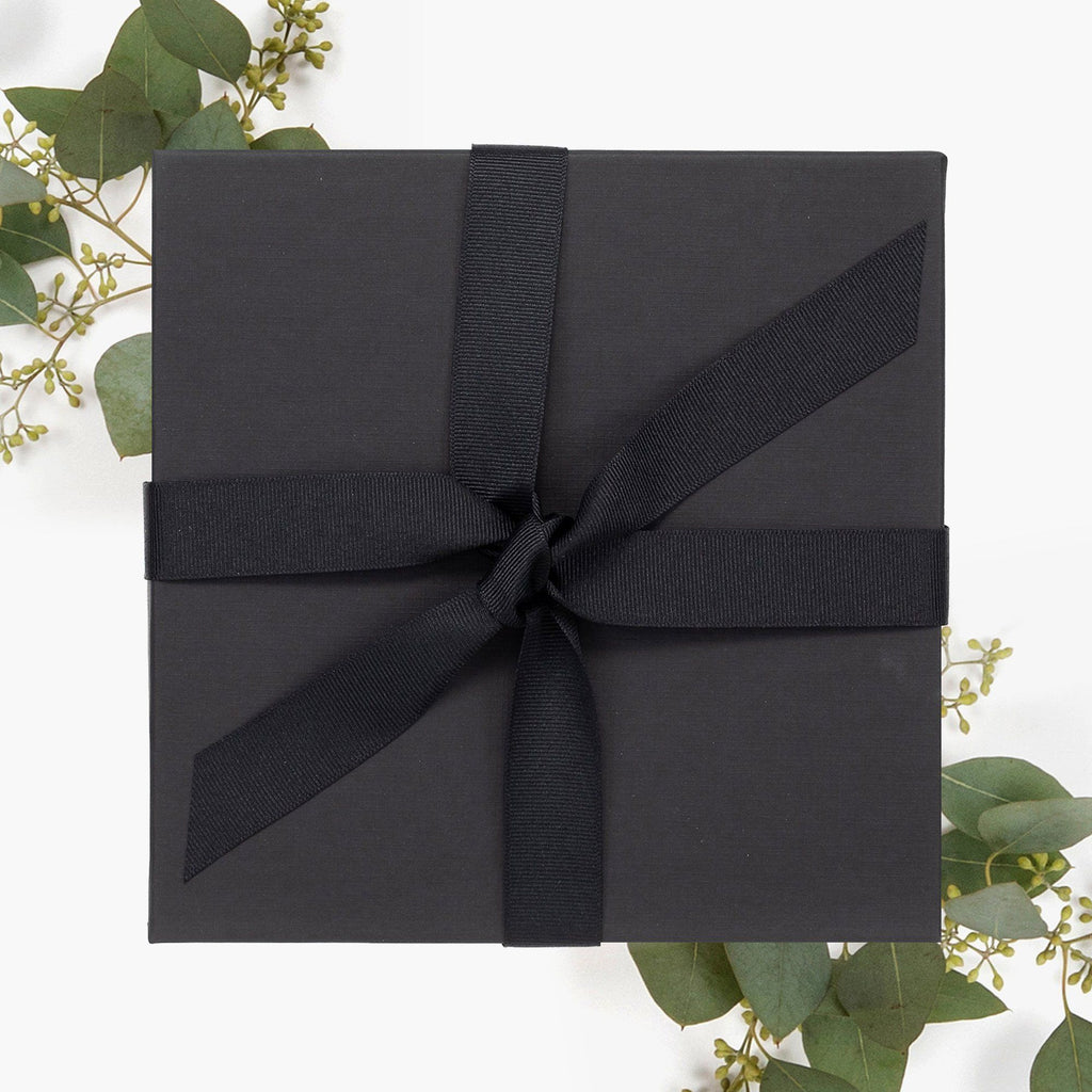 Black Linen Box with Tie