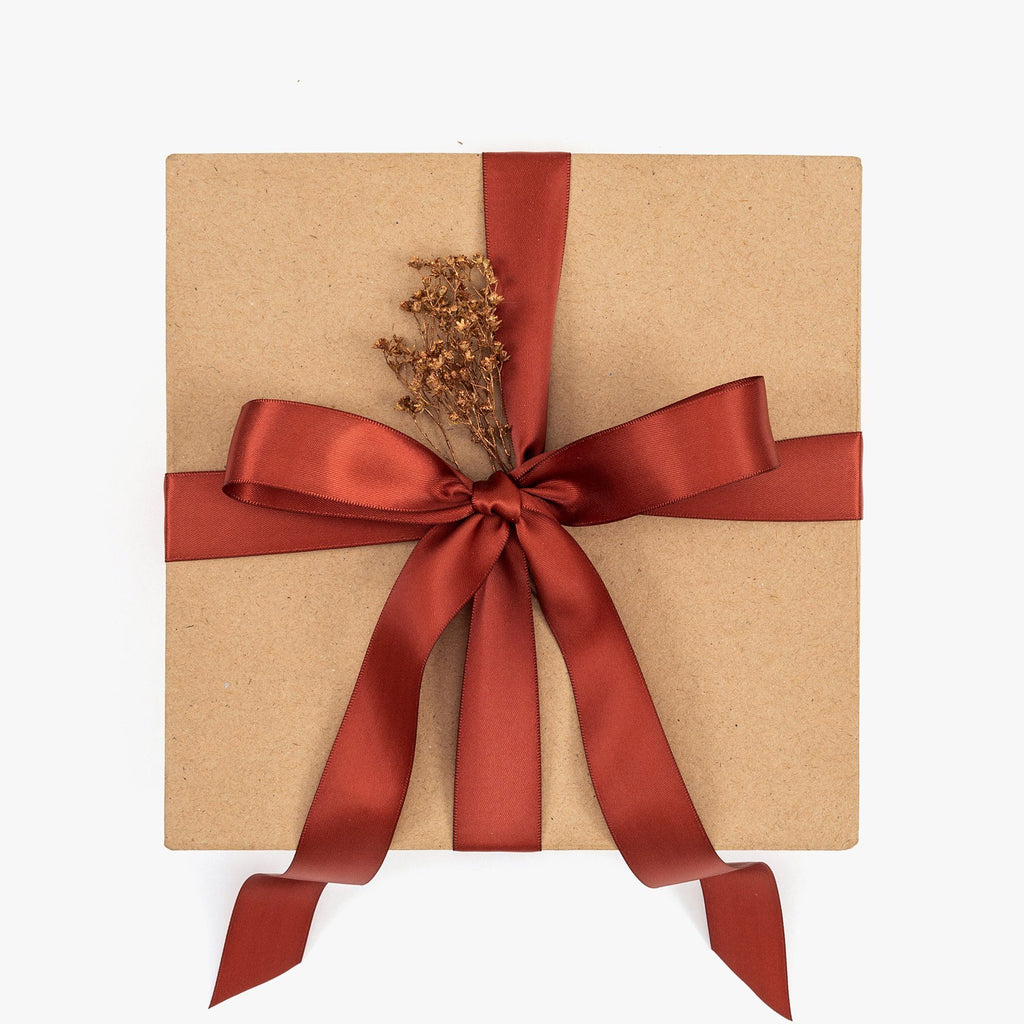 Holiday Gift Box Satin Ribbon