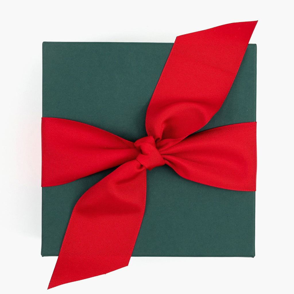 Green Gift Box Red Bow