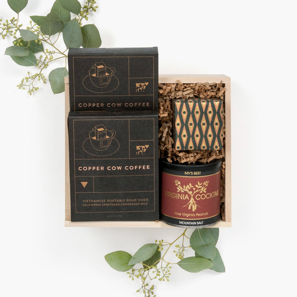 Loved and Found Petite Coffee Client Holiday Gift Box.