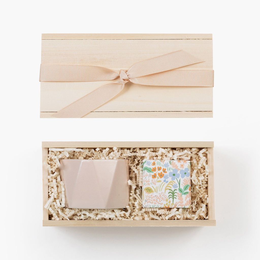 Mini Pink Candle Champagne Gift Box