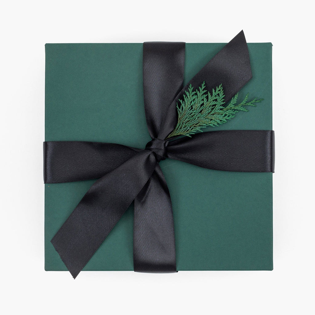 Green holiday gift box