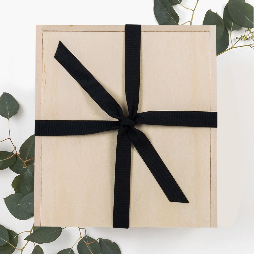 Wood Gift Box Ribbon