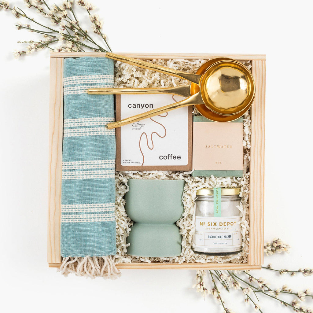 Housewarming Blue Gift Box